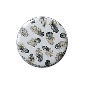 Scattered Feathers Pocket Compact Mirror