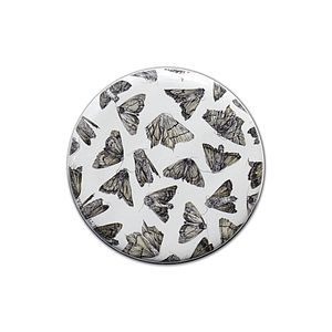 Scattered Moths Pocket Compact Mirror