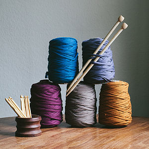 Recycled T Shirt Yarn For Knitting Crochet - sewing & knitting