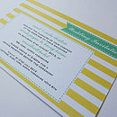 Candy Stripe Personalised Wedding Stationery