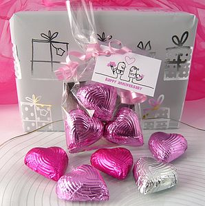 Foiled Chocolate Heart Favour - cakes & treats