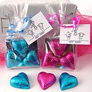 Foiled Chocolate Heart Favour