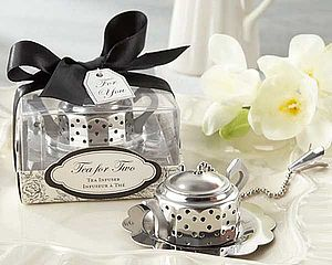 """Tea For Two"" Teapot Tea Infuser - wedding favours"