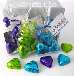 Foiled Chocolate Heart Favour - gifts for her