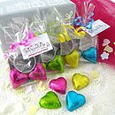 Foiled Chocolate Heart Wedding Favour