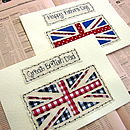Personalised Union Jack Birthday Card