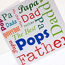 Your Dad: Father's Day Card