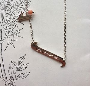 Sweetness Scroll Necklace