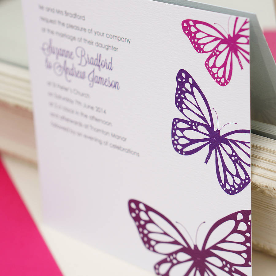 Butterfly Themed Wedding Invitations: Butterfly Wedding Invitation By Gooseberrymoon