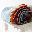 Boy's Knitted Wool Pram Blanket