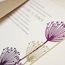 Cow Parsley Wedding Invitation