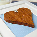 Personalised Father's Day Framed Heart - Blue Background