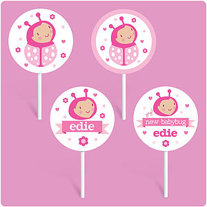 Personalised Baby Girl Cake Toppers - cake decoration