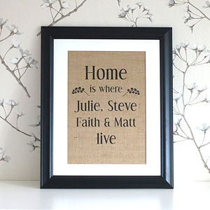 'Home Is Where We Live' Wall Decor
