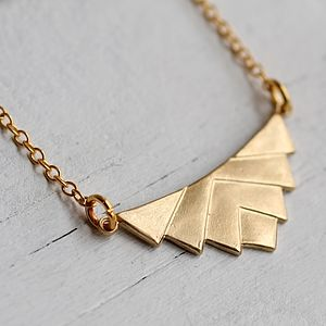 Deco Pyramid Necklace - on trend: origami jewellery
