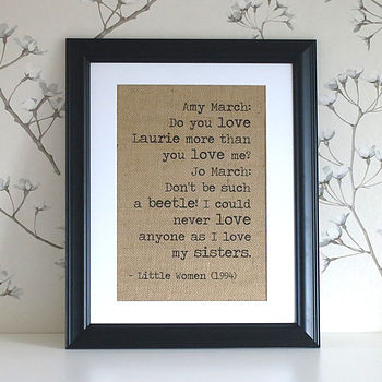 "hessian wall decor with 14""x11' black frame"