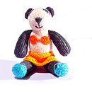Panda in Bikini and Orange Skirt