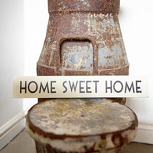 'Home Sweet Home' Wooden Sign