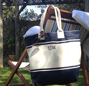 Bespoke Embroidered Beach Bag - bags & purses