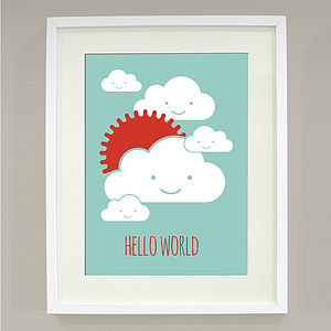 'Hello World' Art Print