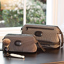 Men's Pinstriped Wash Bags