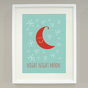 'Night Night Moon' Art Print