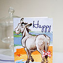 Vintage Donkey Birthday Card