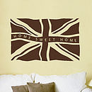 Personalised Fly The Flag Wall Sticker