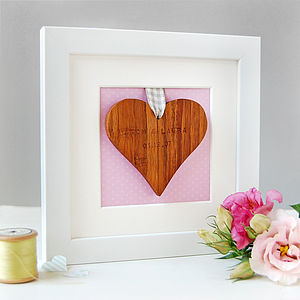 Personalised Wedding Framed Heart Keepsake - keepsakes