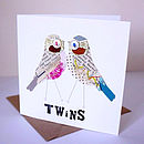 Personalised Twins Card