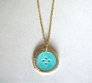 Enamel Button Pendant - necklaces & pendants