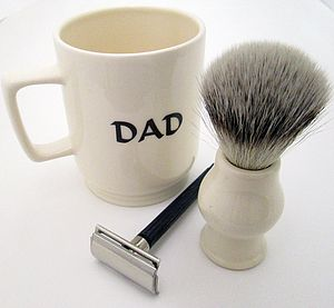'Dad' Traditional Shaving Mug - for him