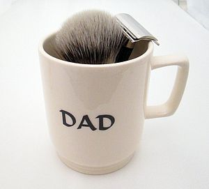 'Dad' Traditional Shaving Mug - men's grooming & toiletries