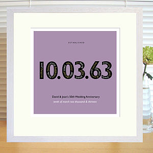 Personalised Landmark Date Print - best for birthdays