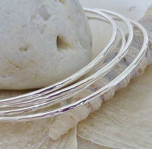 Silver Stacking Bangle - bracelets & bangles
