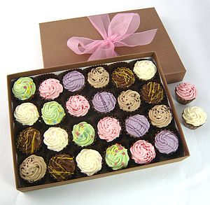 Box Of Cupcake Shaped Chocolates - cakes & treats