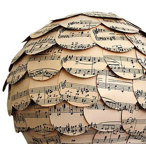 The Natural Home Music Paper Lampshade - lighting