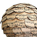 The Natural Home Music Paper Lampshade