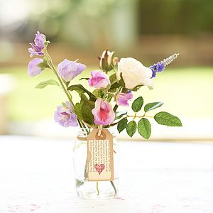 Rose And Sweet Peas Posy Bouquet - artificial flowers