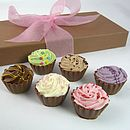 Box Of Cupcake Shaped Chocolates