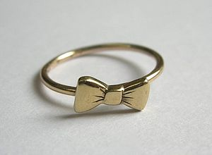Bow Tie Ring - rings