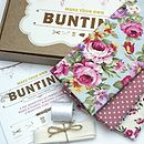 Bunting Kit - Sky Blue Floral and Pink Spot