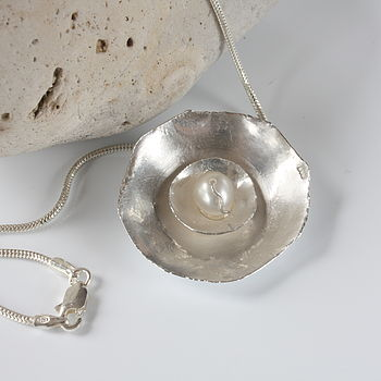Handmade Silver Pearl Necklace