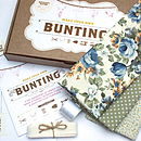 Bunting Kit - Blue Floral and Green Spot