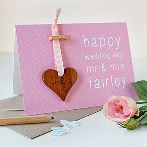 Personalised Wedding Keepsake Card - wedding stationery