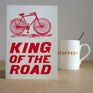 'King Of The Road' Bicycle Card - birthday cards