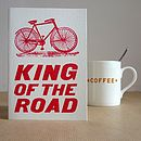 'King Of The Road' Bicycle Card