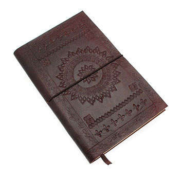 FairTrade Chocolate Embossed Leather Notebook