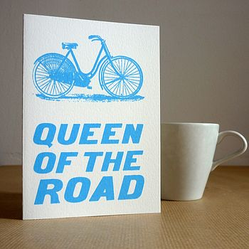 'Queen Of The Road' Bicycle Card
