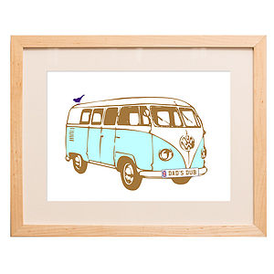 Personalised Camper Van Print - pictures & prints for children